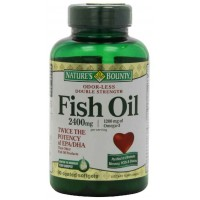 Nature's Bounty FISH OIL 2400 Mg Double Strength Odorless 90 Softgels