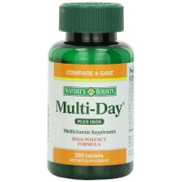 Nature's Bounty Multi-Day Plus Iron, 365 Tablets