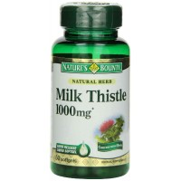 Nature's Bounty MILK THISTLE 1000mg, 50 Softgels - Liver Health
