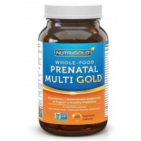 NutriGold Whole Food Multi Gold Women's Prenatal Vitamin Veg Capsules (120)