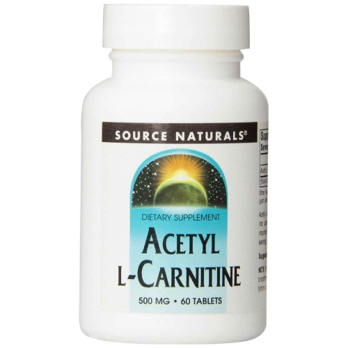 Source Naturals Acetyl L-Carnitine 500mg, 60 Tablets