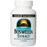 Source Naturals Boswellia Extract, Boswellic Acids 243 mg, 100 Tablets - Joints