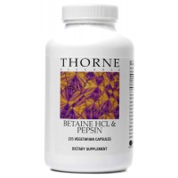 Thorne Research - Betaine HCL/Pepsin - Dietary Supplement to Promote Digestion - 225 Vegetarian Capsules