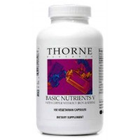 Thorne Research - Basic Nutrients V - Complete Multiple Vitamin-Mineral Supplement with Copper and Without Iron or Iodine - 180 Vegetarian Capsules