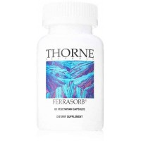 Thorne Research - Ferrasorb - Complete Blood Building Formula with Iron, Folate, and B vitamins - 60 Vegetarian Capsules