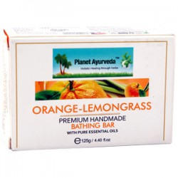 Orange Lemon Grass Handmade Bathing Bar