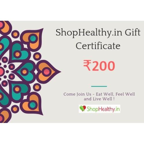 ShopHealthy Gift Certificate (Gift Card / Gift Voucher) - ₹200