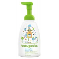 Babyganics Foaming Dish and Bottle Soap, Fragrance Free, 16 oz (473 ml) Pump Bottle
