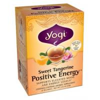 Yogi Sweet Tangerine Positive Energy Tea (16 Tea Bags) - Pack of 2