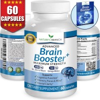 ★ ADVANCED Brain Booster Supplement Memory Focus & Mental Alertness PLUS FREE EBOOK Mind & Clarity Enhancer Ginkgo Biloba Complex Power Boost Nootropic 60 Pure Concentration and Energy Pills