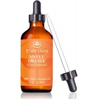 ★ Sweet Orange Essential Oil ★HUGE 4 oz ★ Therapeutic Grade ★ 100% Pure & Natural ★ With Glass Dropper
