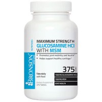 GLUCOSAMINE HCl WITH MSM - GLUCOSAMINE HCl 1500 mg, MSM 1500 mg, 375 Tablets by Bronson Labs