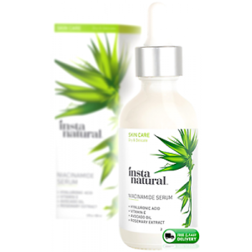 Instanatural Niacinamide 5 Face Serum Vitamin B3 Anti Aging Moisturizer For Skin Diminishes Appearance Of Acne Breakouts Wrinkles Fine Lines
