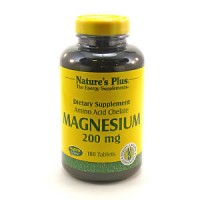 Magnesium 200 Mg By Nature's Plus - 180 Tablets