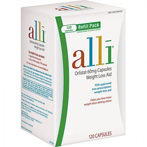 Alli Fda Approved Weight Loss Aid Orlistat Capsules 60mg 120 Count