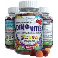 #1 Kids Gummy Vitamins - Children Love These Daily Multivitamin Gummies - Best Chewable Childrens Gummie Vitamin with All Natural Fruit Flavors Color and Sweetener with Multivitamins C D E