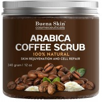 100% Natural Arabica Coffee Scrub, Best Stretch Mark, Acne & Anti Cellulite Treatment, Helps Reduce Spider Veins, Eczema, Age Spots & Varicose Veins - 12 Oz