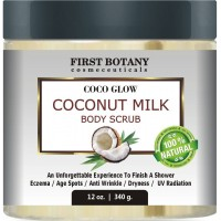 100% Natural Coconut Milk Body Polish 12 oz. With Dead Sea Salt and Vitamin E. Powerful Body Scrub Exfoliator and Daily Moisturizer For All Skin Types