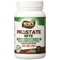 100 Naturals Prostate Rite: Advanced Prostate Supplement for Healthy Urinary & Prostate Function. Proprietary Formula with 30 Plus Ingredients including powerful natural DHT Blockers Saw Palmetto