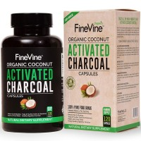 100% Pure Charcoal Capsules - Made in USA - for Detox, Teeth Whitening, Gas Relief and Bloating - 120 Vegetarian Capsules Derived From Activated Coconut Charcoal.