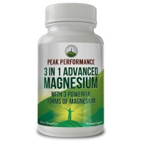 3 In 1 ADVANCED MAGNESIUM COMPLEX By Peak Performance. High Level of Absorbability and Bioavailability. 3 of the BEST Magnesiums in ONE - Magnesium L-Threonate, Magnesium Glycinate, Magnesium Taurate