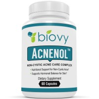 ACNENOL™ - #1 Noncystic Acne Pills by Biovy - Acne Supplement Specially Formulated To Effectively Promote Healthy Response to Noncystic Acne
