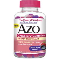 AZO Cranberry Gummies, Daily Urinary Health Dietary Supplement, 25,000 mg Of Cranberry Fruit Equivalent Per Dose Equal To One Glass of Cranberry Juice, 72 Count