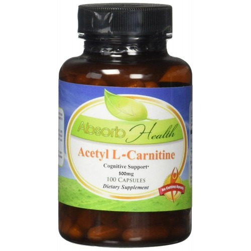 Absorb Health Acetyl L-Carnitine 500mg Capsules, 100 Count