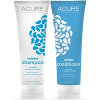 Acure Organics Pure Mint and Echinacea Stem Cell Volume Natural Shampoo and Conditioner Bundle