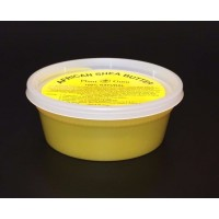 """African Shea Butter """"Yellow/Gold"""" Pure Raw Unrefined 8 oz. """"container"""""""