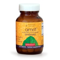 Amrit Kalash Ambrosia | 60 Herbal Tablets - 500 mg ea. | Full-Spectrum Natural Antioxidant Herbal Supplement | Powerful Support for Brain, Nerve & Immunity Health | Proven Chemotoxicity Support