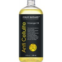 Anti Cellulite Massage Oil & Body Nutritive Serum 8 fl. oz. with 100% Pure Plants Extracts that targets Cellulite —Visibly Smoothing Hips, Buttocks, and Thighs for a Slimmer Silhouette.