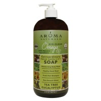 Aroma Naturals Natural Castile 4-in-1 Soap, Tea Tree Eucalyptus, 34 Ounce