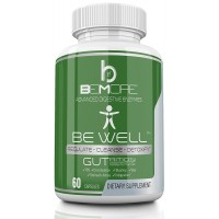 BE WELL GUTrition - ADVANCED DIGESTIVE ENZYMES by beMore   The ONLY Digestive Support with 17 Natural Enzymes to Get More From Your Diet & Relieve Stomach Pain Bloating Indigestion IBS & Constipation