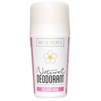 Bali Secrets Natural Deodorant – Organic & Vegan – For Women – All Day Fresh – Strong & Reliable Protection – 2.4 fl.oz/70ml [Scent: Delicate Rose]