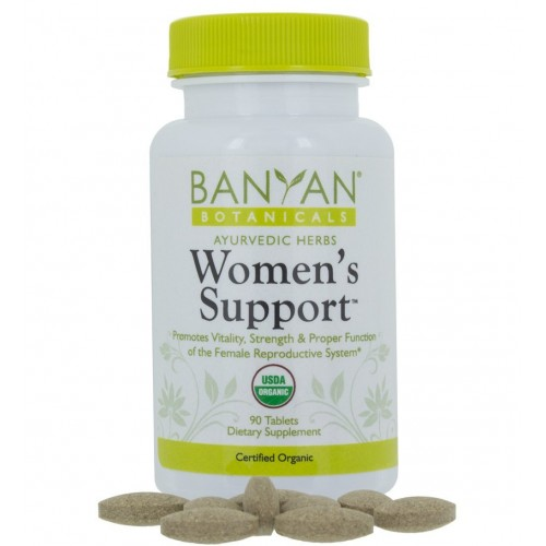 Banyan Botanicals Women's Support - USDA Organic, 90 tablets - Herbal Support for Hormone Balance, Menstrual Relief*