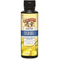 Barlean's Omega Swirl Fish Oil, Lemon Zest, 8-oz