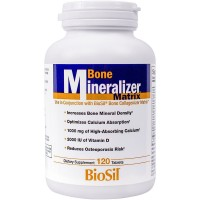 BioSil - Bone Mineralizer Matrix, Promotes Increased Bone Mineral Density with Optimized Calcium Absorption, 120 Tablets