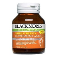 Blackmores - Super Strength Horseradish, Garlic + C - Sinus & Hay Fever Support