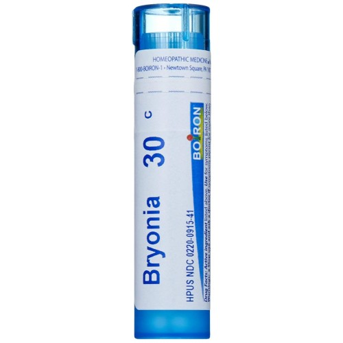 Boiron Bryonia Alba 30C, 80 Pellets, Homeopathic Medicine for Muscle and Joint Pain