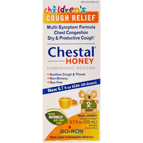 Boiron Children's Chestal Cough Syrup, Honey, 6 7 Ounce, Homeopathic  Medicine for Cough and Chest Congestion
