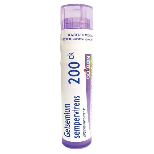 Boiron Gelsemium Sempervirens 200C, 80 Pellets, Homeopathic Medicine for  Stage Fright, Apprehension and Fever