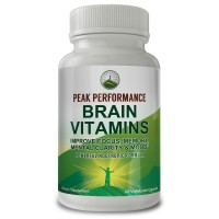 Brain Vitamins - Powerful Nootropic Booster By Peak Performance. For Improved Focus, Memory, Mental Clarity & Mood. With DMAE, Bacopa Monnieri, Ginkgo Biloba, St. John's Wort, & More