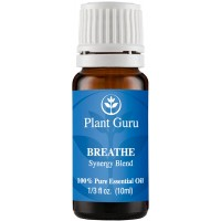 Breathe Respiratory Synergy Blend Essential Oil. 10 ml. 100% Pure, Undiluted, Therapeutic Grade. Blended With Eucalyptus, Peppermint, Tea Tree, Lemon, Lavender, Cardamom, Bay.
