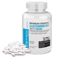 Bronson Glucosamine MSM Maximum Strength 375 Tablets