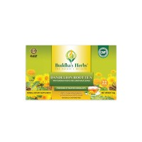 Buddha's Herbs 100% Natural Dandelion Root Tea with Burdock Roots - Caffeine Free - Pack of Four (88 Tea Bags)