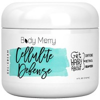 Cellulite Defense Gel-Cream - Cellulite Cream w Caffeine + Retinol + Seaweed; Firming & Toning Gel - Use Solo or as the Perfect Companion w Massager, Brush, Scrub, Roller or other Remover Treatment…