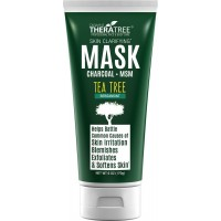 Clarifying Mud Mask with Dead Sea Minerals, Activated Charcoal & Tea Tree, Acne & Blackhead Control for Face & Body, Natural Unclog Pore Reducer, Controls Oil & Purify Skin