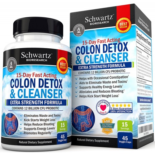 Colon Cleanser Detox For Weight Loss 15 Day Extra Strength Detox Cleanse With Probiotic For Constipation Relief Pure Colon Detox Pills For Men