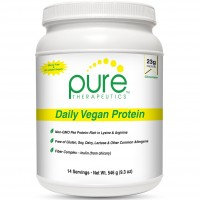 """Daily Vegan Protein """"Chocolate""""- 14 servings   23 grams of Non-Gmo Yellow Pea Protein & Aminogen®   Sweetened with Monk Fruit   7g of Fiber (Inulin *from Chicory)   Gluten-Free, Dairy-Free & Soy-Free"""